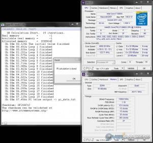 SuperPi 1M @ 4.9 GHz CPU / 3000 MHz Memory