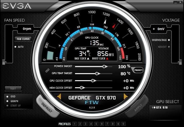 PrecisionX 16 Main Screen