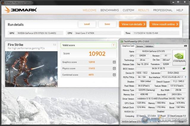 3DMark Fire Strike @ 1325 MHz GPU / 1950 MHz Memory