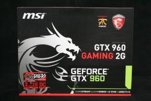 MSI GTX 960 Gaming 2G Retail Packaging - Front