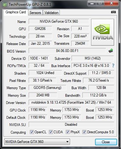 GPUz v8.1