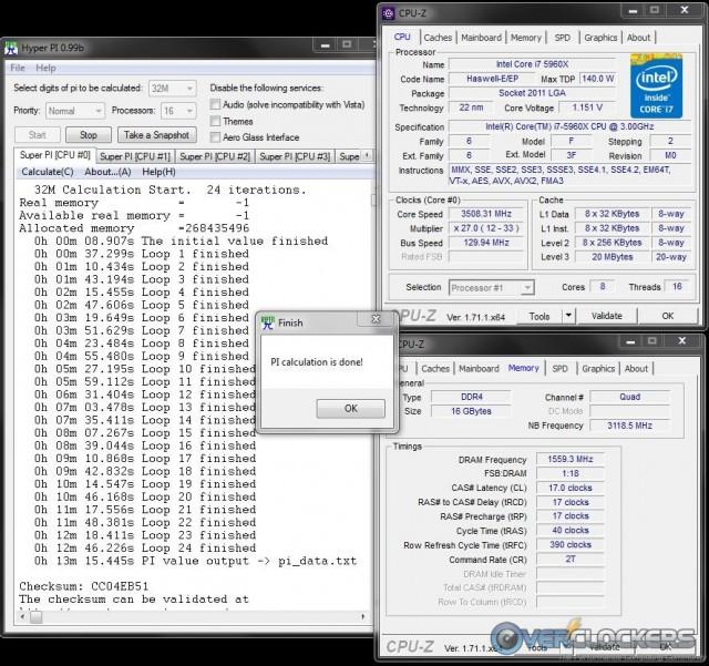 3120 MHz Overclock
