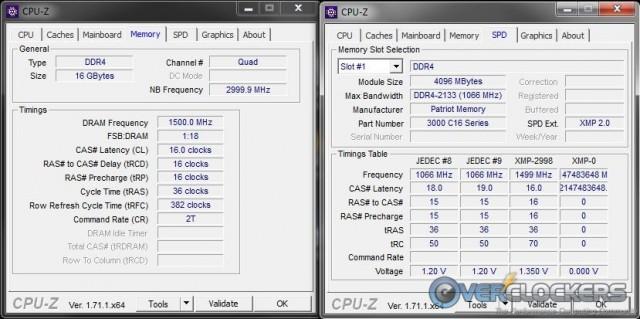 CPU-Z Memory Tabs
