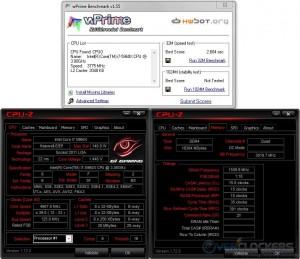 wPrime @ 4.9 GHz CPU 3020 MHz Memory