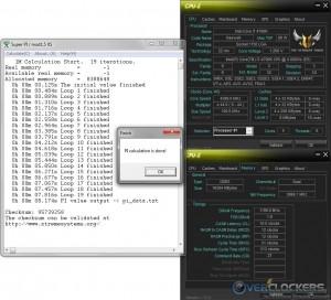 SuperPI 1M @ 4.4 GHz CPU / 2400 MHz Memory
