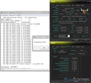 SuperPi 32M @ 4.7 GHz CPU / 2400 MHz Memory