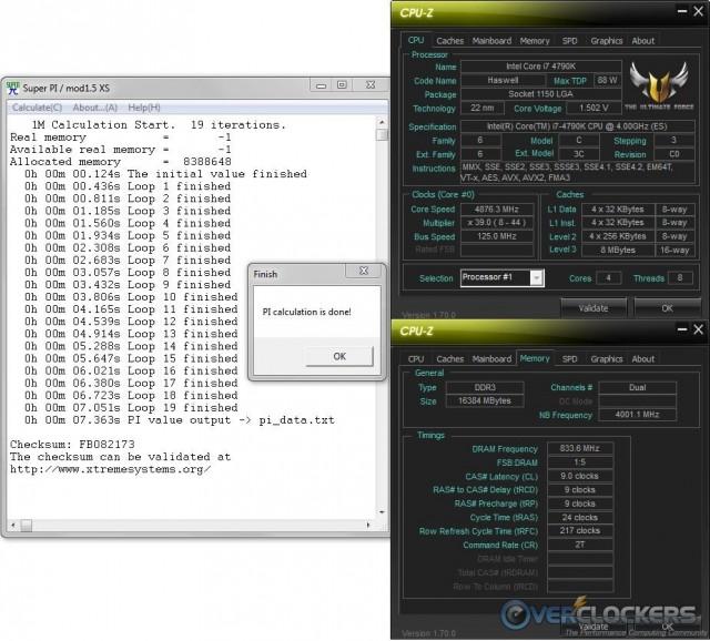 SuperPi 1M @ 4.875 GHz / 1866 MHz Memory