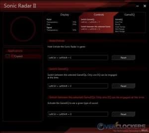 Sonic Radar II - Controls Settings