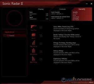 Sonic Radar II - GameEQ Settings