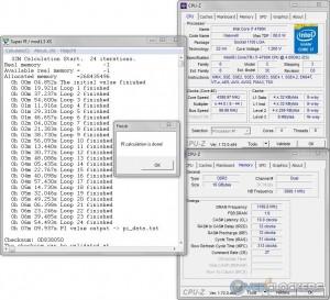 SuperPi 32M @ 4.4 GHz CPU / 2400 MHz Memory