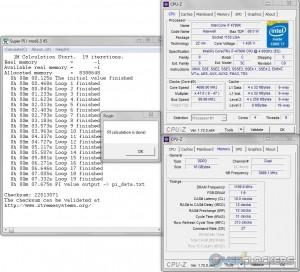 SuperPi 1M @ 4.7 GHz CPU / 2400 MHz Memory