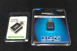 USB mic and headphone adapters