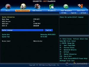 System Information Tab