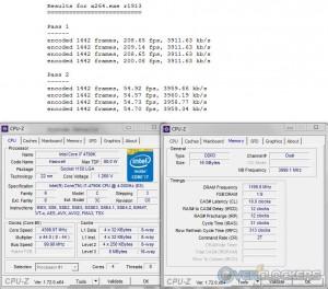 x264 @ 4.4 GHz CPU / 2400 MHz Memory