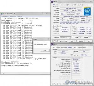 SuprePi 1M @ 4.4 GHz CPU / 2400 MHz Memory