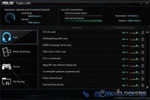 Turbo LAN Main Screen