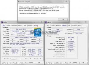 PoV Ray @ 3.5 GHz CPU / 3000 MHz Memory