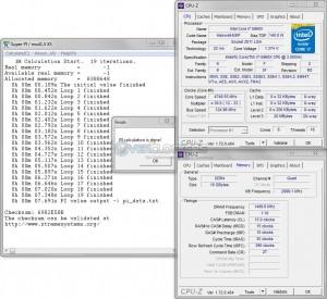 SuperPi 1M @ 4.75 GHz CPU / 3000 MHz Memory