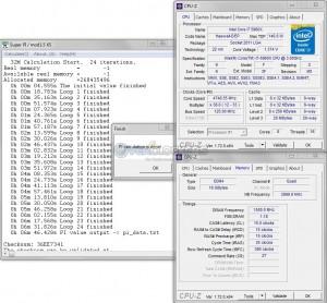 SuperPi 32M @ 4.75 GHz CPU / 3000 MHz Memory