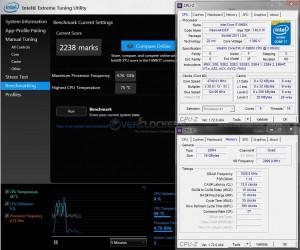 Intel XTU @ 4.75 GHz CPU / 3000 MHz Memory