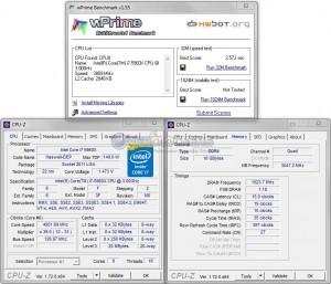 wPrime 32M @ 4.95 CPU / 3050 MHz Memory