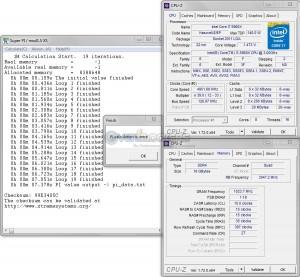 SuperPi 1m @ 4.95 CPU / 3050 MHz Memory