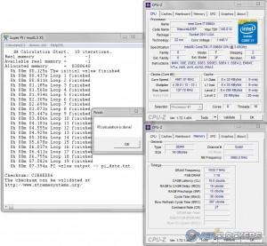 SuperPI 1M @ 4.98 GHz CPU / 3000 MHz Memory