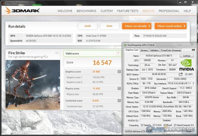 3DMark Fire Strike Overclocked
