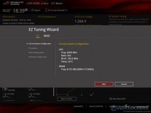 EZ Tuning Wizard - Overclock