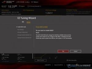 EZ Tuning Wizard - RAID