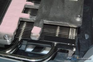 Two Smaller Heatpipes Through Fin Array