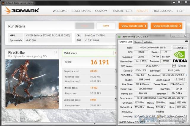 3DMark Fire Strike Overclock Stable