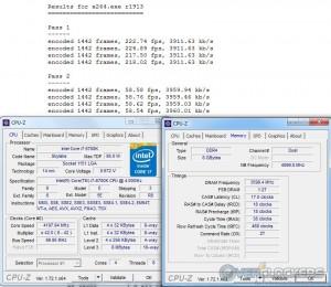 x264 @ 4.2 GHz CPU / 3600 MHz Memory