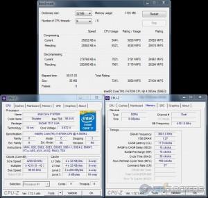 7zip @ 4.2 GHz CPU / 3600 MHz Memory