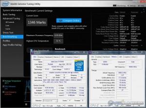 Intel XTU @ 4.2 GHz CPU / 3600 MHz Memory