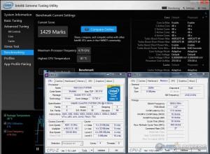 Intel XTU @ 4.8 GHZ CPU / 3600 MHz Memory