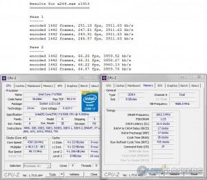 x264 @ 4.8 GHz CPU / 3333 MHz Memory