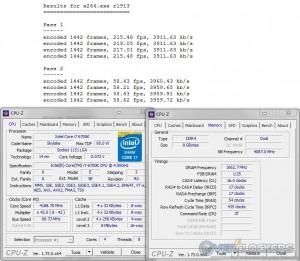 x264 @ 4.2 GHz CPU / 3333 MHz Memory
