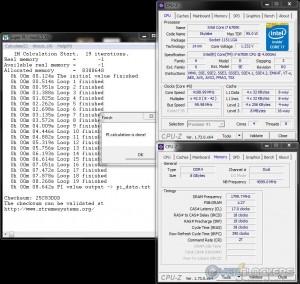 SuperPi 1M @ 4.2 GHz CPU / 3600 MHz Memory