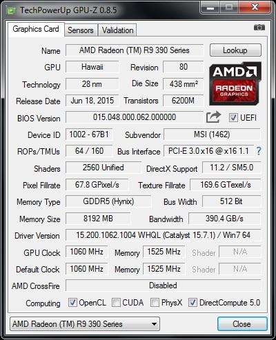 GPU-z v8.5