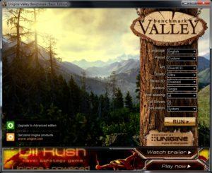 Unigine Valley Settings