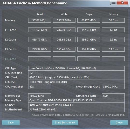 EVGA SSC DDR4-2800@ 3000 CL15-15-15-35 1.35V
