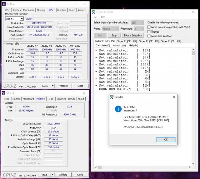 Trident Z 2x8GB DDR4-3200 @ 3600 17-18-18-36 1N 1.45V