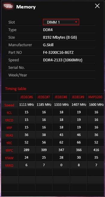 Trident Z 2x8GB DDR4-3200 CL16 SPD/XMP