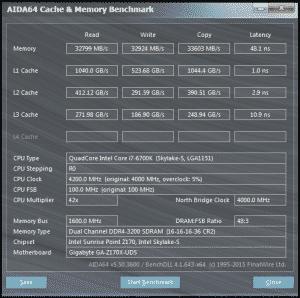 AID64 @ DDR4-3200 16-16-16-36