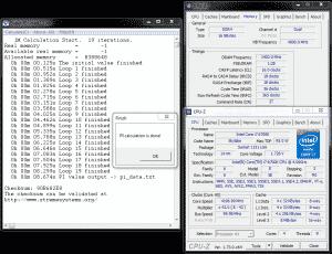 SuperPi 1M @ DDR4-2800 16-18-18-36