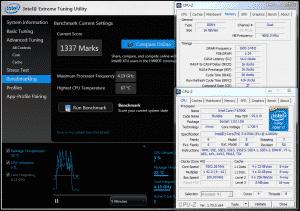 Inte XTU @ DDR4-3200 16-16-16-36