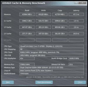AIDA64 @ 4.2 GHz