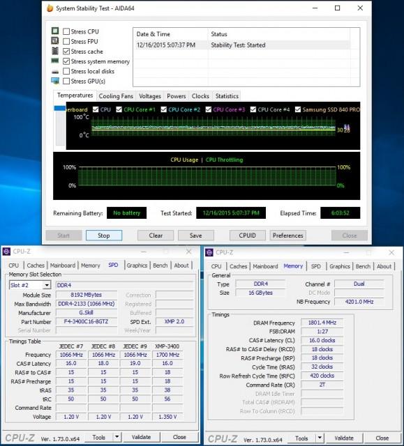 Trident Z 16GB DDR4-3400 CL16 - Stability - Overclocking