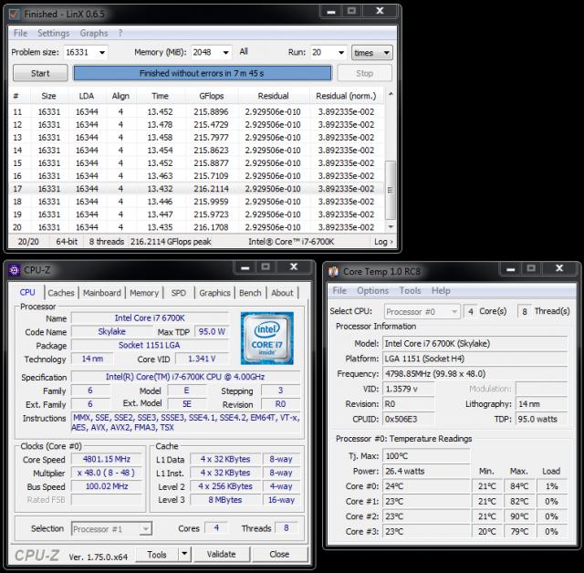 i7 6700K @ 4.8 GHz